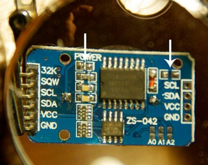 I de-soldered the power led, and removed the Bat charging circuit from the RTC board