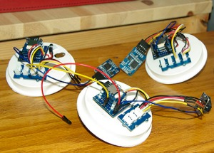 Logger units with I2C hub for sensor and RTC connections.