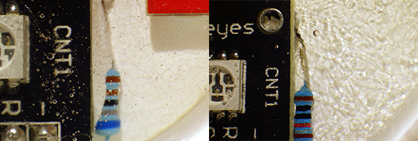 Left side: Loctite Nozzle Right Side: Short Generic Nozzle