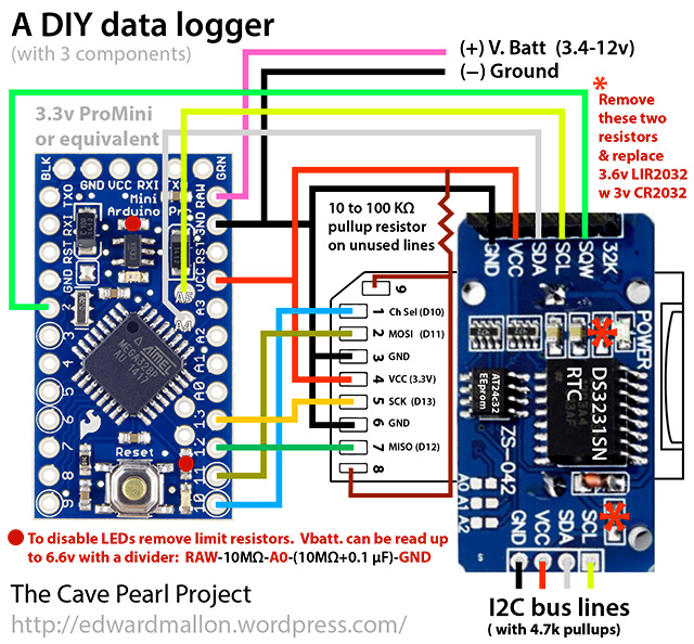 Stream Data Logger : A diy arduino data logger for from components