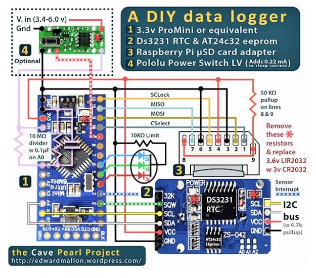 The Diy Arduino Datalogger V2 With Low Power Shut Down