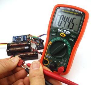 Test battery holder