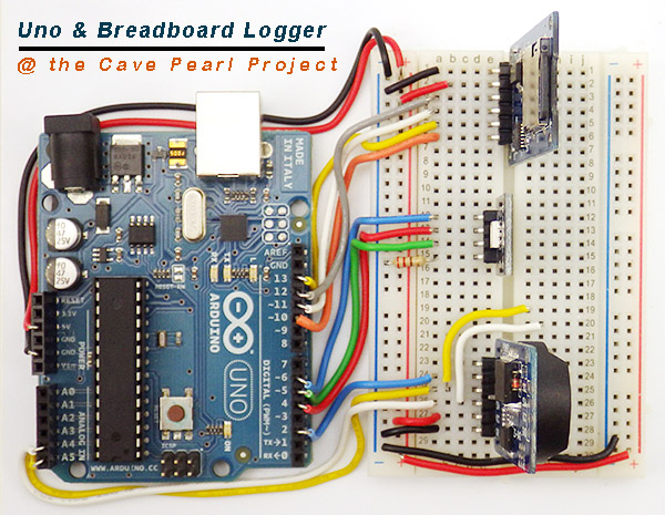 Arduino UNO Datalogger Project for Beginners (ie: no soldering