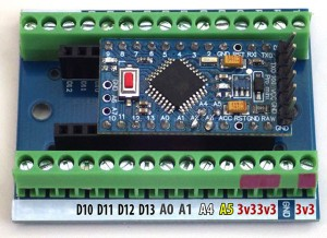 Connection map for analog side of Nano S-Terminal board